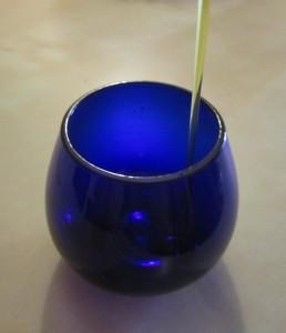 copa azul para la cata